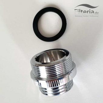 Adapter für Waschbecken 24mm auf 1/2 Zoll AG