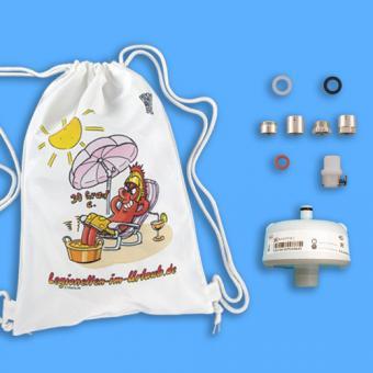 Legionellenfilter Reiseset 3, für Waschbecken