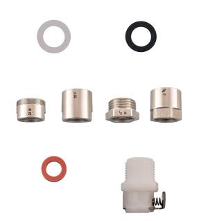 Universaladapter-Set für Wassersterilfilter zum Anschluss an Waschbeckenarmaturen