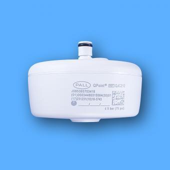 Pall QPoint Wassersterilfilter QJC212, mit Jetauslauf, für Schnellkupplung, Standzeit 62 Tage