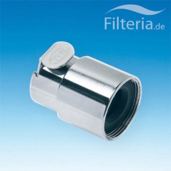 Waschbeckenfilter-Schnellkupplung 22 mm, Innengewinde, mit Wasserstopp, TAP22FV