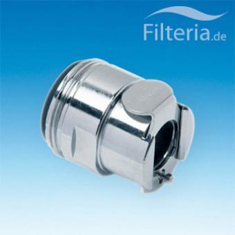 Waschbeckenfilter-Schnellkupplung 24 mm, Außengewinde, ohne Wasserstopp, TAP24MN