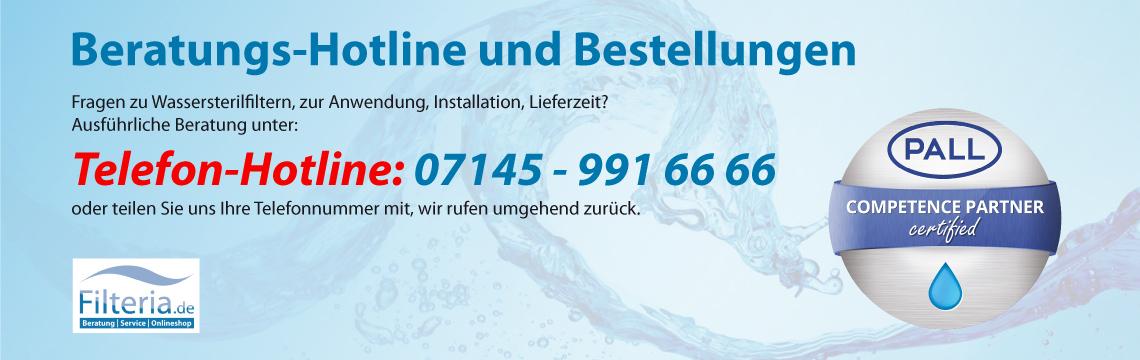 Beratungs-Hotline und Bestellungen