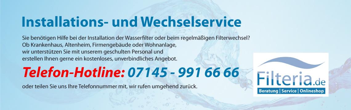 Installations- und Wechselservice